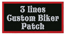 Bikers MC  Custom 3 line patch
