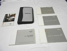 2003 NISSAN ALTIMA OWNER'S MANUAL 5/PC SET + GRAY & BLACK NISSAN ZIPPERED CASE