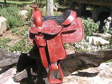 Small Child Hobby Rocking Horse Saddle 2 Burgandy