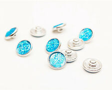 10pcs Tree Blue AB 12mm snaps Chunk Button For Charm Leather Bracelets NEW