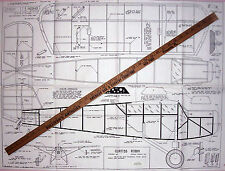"Vintage CURTISS ROBIN Classic 48"" Comet FF or Make It RC Model Airplane PLAN"