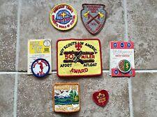 Lot Of 7 Vintage Boy Scout Patch Emblem Arrow Head