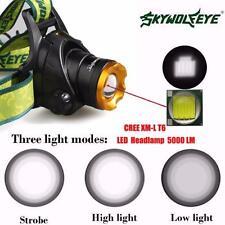 5000 Lm CREE XM-L XML T6 LED Con Chivato Luminoso linterna cabeza Lámpara 18650