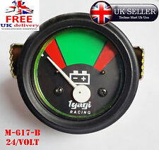 24v 52MM DIAL BLACK DIAL RED AND GREEN BAR BATTERY METER GUAGE 24VOLT (M617-B