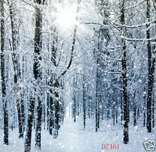 8X8FT Winter Trees Vinyl Studio Backdrop Photography Props Photo Bckground DZ461