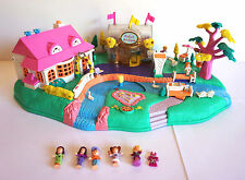 Vintage Polly Pocket Magical Movin' Boutique 5 Figures & 8 Dresses 1996 Bluebird
