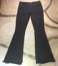 WORK Custom Jeans SZ 26 Stretch Pants Flare Black Made In USA