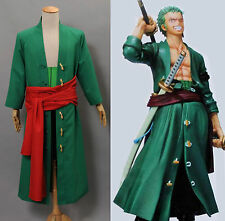 One Piece Nuovo Mondo Zoro Costume Cosplay Anime Manga Halloween *Su Misura*
