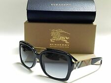Authentic BURBERRY BE4160 34338G Black/Gray Gradient Square Sunglasses