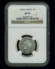 New listing Greece George I 1873-A 1 Drachma Silver Coin, Ngc Certified Au55