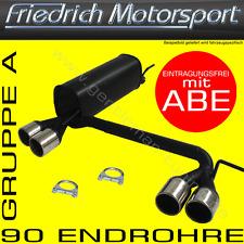 FRIEDRICH MOTORSPORT DUPLEX AUSPUFF VW GOLF 4 CABRIO 98-02