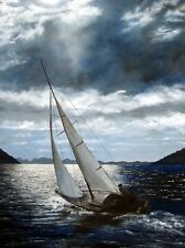 """""""Departure From Jost"""" - Artist Signed and Numbered Lithograph - Sailing Nautical"""