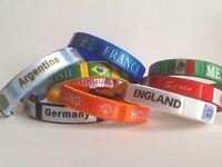 Brazil 2014 Football World Cup Country Fan Fashion Wristband / Bracelet