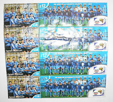 2010 FIFA South Africa World Cup Uruguay National Team 100 Years_Anos STAMPS X 4