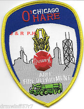 "Airport - Chicago  O'Hare Airport  A.R.F.F., IL  (3.75"" x 4.75"" size) fire patch"