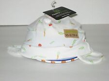 New ROOTS Size XS/S (0-6 M) (12 inches circumference) White Organic Toque Hat