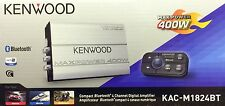 NEW Kenwood KAC-M1824BT Compact Bluetooth 4-Channel Class D Marine/ATV Amplifier