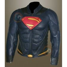 DC Comics Character Man Of Steel Superman Perforated Real Leather Jacket