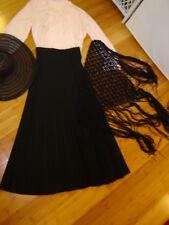 Victorian Edwardian Teens dress lady pink blouse black skirt hat shawl sz M