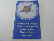 Order of Eastern Star Official Lapel Pin Grand Chapter of PA