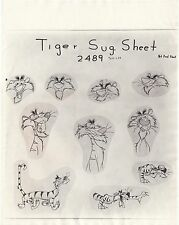Disney model sheet of Tiger from Goofy's Tiger Trouble 1945