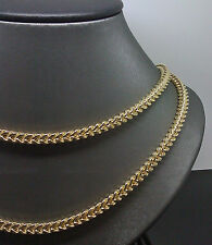 "10K Yellow Gold Men's Franco Chain With Diamond Cuts 4.5mm 30"" A36B4 Rope, Cuben"