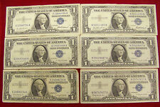 6 1957 $1 Silver Certificates - various #'s - Circulated (see desc. for #'s)