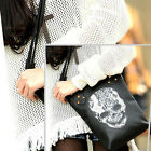 Fashion PU Punk Black Skull Rivet Tote Shoulder Handbag Hobo School Stud Bags
