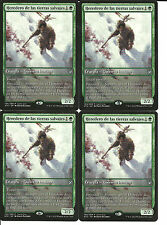 mtg Magic 4x Heir of the Wilds ( Heredero de las tierras salvajes ) Spa NM PROMO