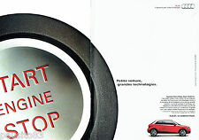 PUBLICITE ADVERTISING 056  2011  la nouvelle Audi A1 (2p)  start stop