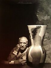 PABLO PICASSO clipping Spanish painter B&W photo 1964 collage Cubist sculptor