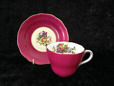 COPELAND SPODE CHINA TIFFANY & CO NEW YORK FRUIT DECORATED CUP & SAUCER PINK