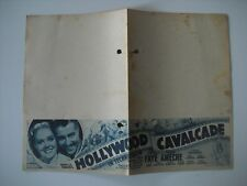 Original Movie Film Program Hollywood Cavalcade. 1939. Programa de mano, cine.