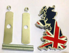 Union Jack Flag UK Car Grille Grill Badge GB England Jaguar MG MINI Cooper Metal