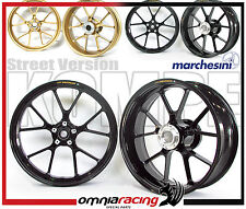 Wheels Marchesini Aluminum Forged Black aluminum Wheels Aprilia RSV4