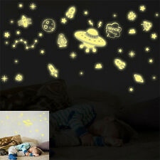 DIY Glow In The Dark Space Stars UFO Planet Rocket Luminous PVC Wall Sticker