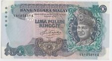 XT RM 50 5TH SERIES AZIZ TAHA FIRST PREFIX VA A.UNC *RARE