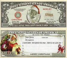 Christmas - Santa's Wish List Million Dollar Novelty Money