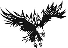 (Nr72) flying feu flamme eagle head decal vinyl autocollant mural fenêtre camion voiture