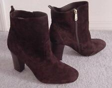 NEW  Brown SUEDE LEATHER $179 TOMMY HILFIGER High Heel Ankle Boots-Shoes 10M