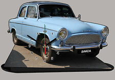 MINIATURE, MODEL CARS,  SIMCA P60 simca-p-60 en horloge