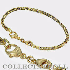Authentic Trollbead 14K Bracelet w/ Lock 7.9 Trollbeads