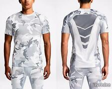 $55 NIKE PRO COMBAT HYPERCOOL WOODLAND CAMO FITTED TRAINING SHIRT 657442-100 S
