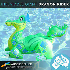 Giant Inflatable Dragon Blow Up Pool Toy Float Ride On Float 135x83x81cm Airtime