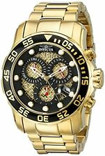Invicta Men's 19837 Pro Diver Analog Swiss Quartz Gold Watch With One Slot Case