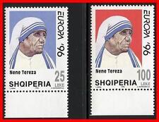 Albania 1996 EUROPA /MOTHER TERESA SC#2506-07 MNH MEDICINE, RELIGION (E15)