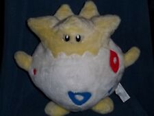 "1998 POKEMON Nintendo 14"" Plush TOGEPI Large Play By Play Stuffed Animal Toy"