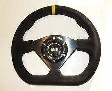 "Steering Wheel Suede 285mm 11"" Inch Flat D shape IVA Kitcar Race car New"