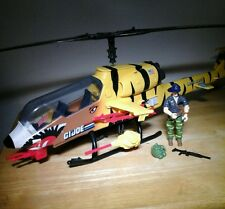 1988 TIGER FLY VINTAGE GI JOE HELICOPTER IN AWESOME  SHAPE TIGERFLY W/ RECONDO