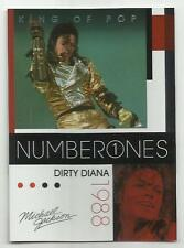 2011 Panini Michael Jackson King Of Pop Number Ones Platinum #188 (DIRTY DIANA)